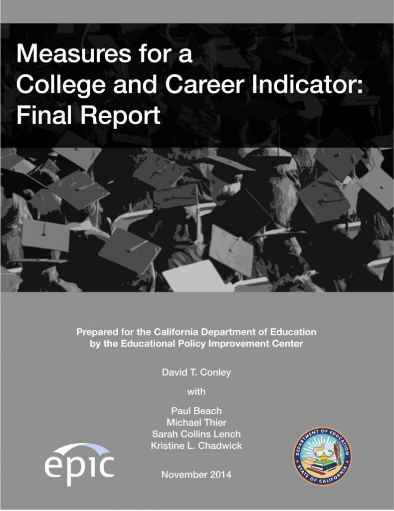 Measures for a College and Career Indicator: Final Report (cover image)