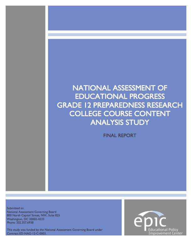 national assessment of educational progress algebra National assessment governing board  since 1973 the national assessment of educational progress  and algebra), as well as the.