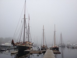 Docks of Camden, Maine, by Ross Anderson