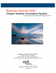 Reactions from the Field Cover Page