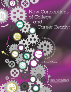 New Conceptions of College and Career Ready Report Cover