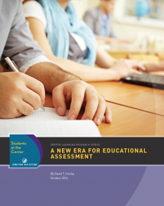A New Era for Educational Assessment Cover