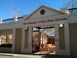 Notre-Dame in Australia entrance photo - Australian Association of Research in Education