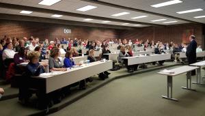 audience at Sauk Valley keynote presentation