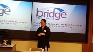 Kirsten Aspengren presenting Sauk Valley keynote