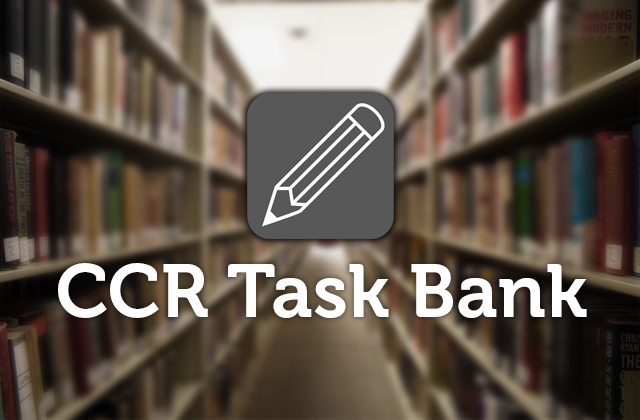 CCR Task Bank link graphic