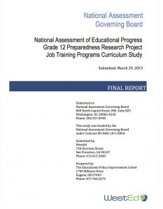 Job Training Programs Curriculum Study