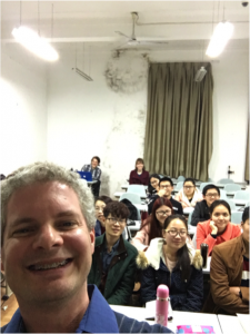 Greg teaching a class of English majors at the Northwest Agriculture and Forestry University in Yangling, China.