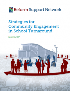 strategies for community engaement in school turnaround cover page